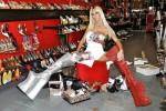 Free porn pics of Shauna Sand mature blonde BIMBO wearing extreme platform heels 1 of 9 pics