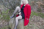 Free porn pics of Red Coat and fishnet stockings  1 of 16 pics
